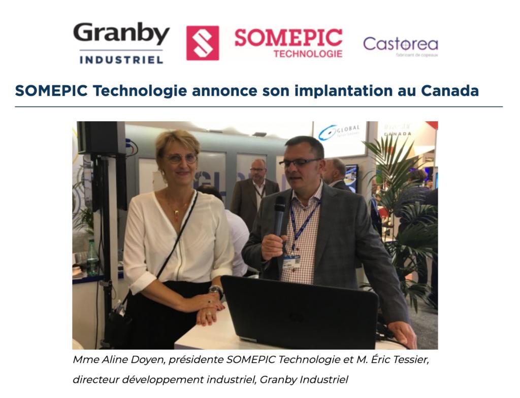 Castorea célèbre un nouveau partenariat avec Somepic Technologies.